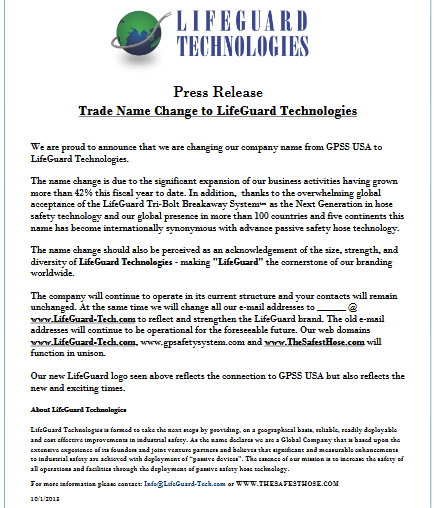 Press Releases – Life Guard Technology