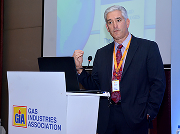 Andy Abrams presents at Gas Association of India's safety conference